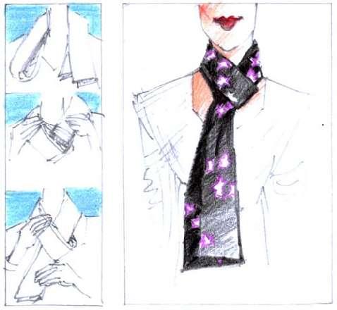 Как завязывать шарф европейским узлом