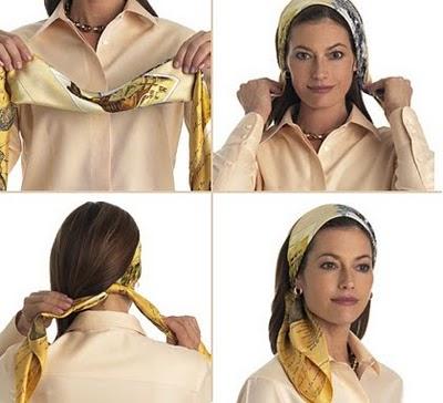 способ красиво завязать платок на голове