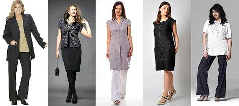 варианты гардероба для полных женщин
