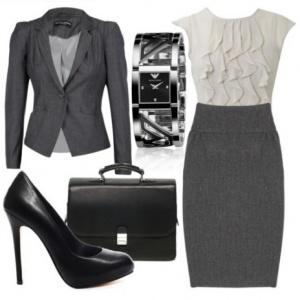 гардероб делового стиля одежды