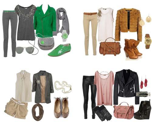 как сочетать одежду между собой смотрите на фото