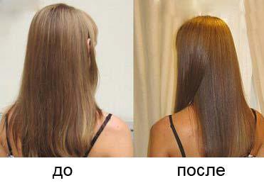 фото до и после процедуры ламинирования волос