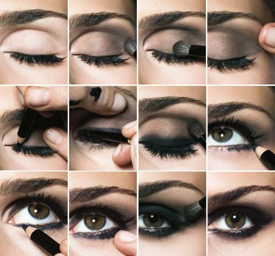 как сделать дымчатый макияж - подробно с фото