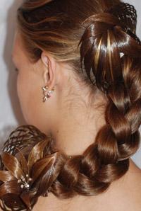 Причёска с шиньоном фото