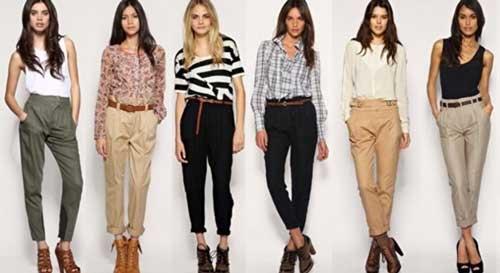 С чем можно носить укороченные женские брюки