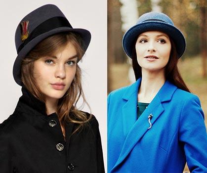 шляпа - головной убор под женское пальто
