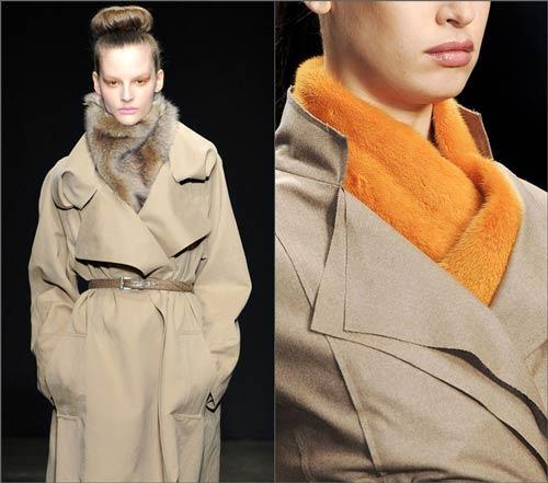 как завязать шарф под пальто фото