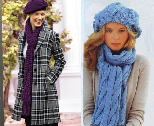 как завязать шарф на пальто фото