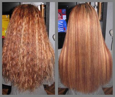 домашнее ламинирование волос желатином фото до и после