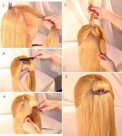 прическа для длинных распущенных волос