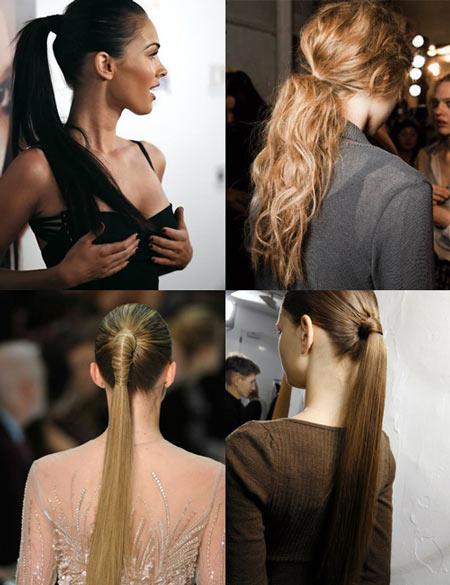хвост - прическа для волос длинных волос фото