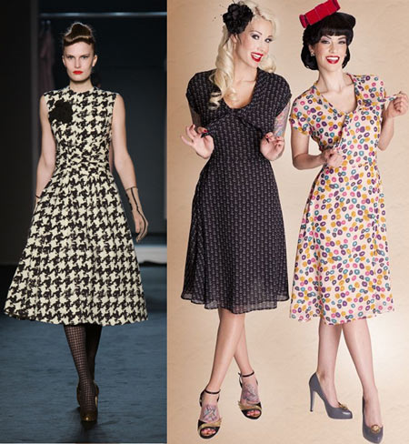 ретро стиль платья фото