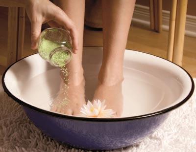 как приготовить ванночки для ног от усталости