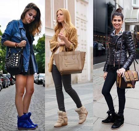 с чем носить обувь - женские сникерсы фото