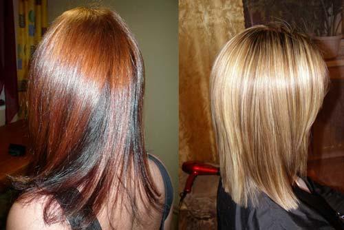 Брондирование на мелированные волосы - 6b38