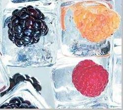 лед с фруктами