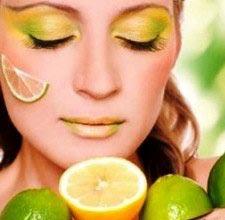 как осветлить лицо лимоном