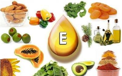 на фото в каких продуктах содержится витамин е