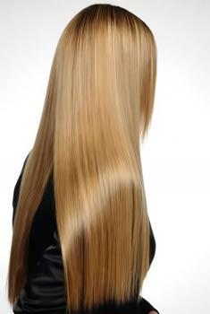 на фото выпрямленные волосы