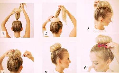 Как сделать шишку из волос без бублика пошаговая инструкция фото