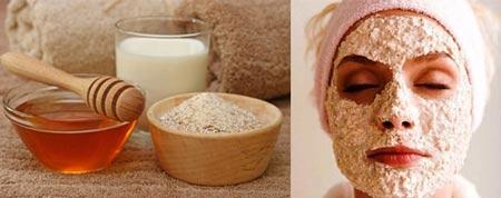 ингредиенты для маски на основе овсянки